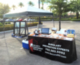 security window film display booth at national night out in Las Vegas