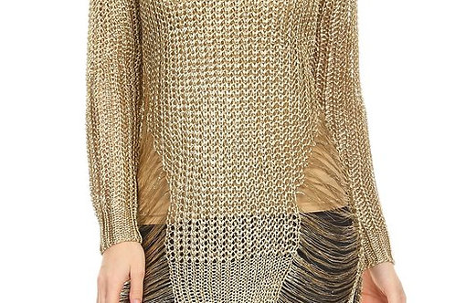 GOLDEN RIPPED SWEATER