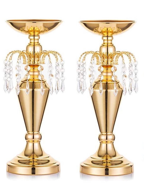 Gold Metal Vases