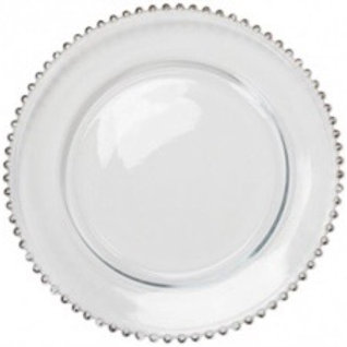 Chargers plate silver studded