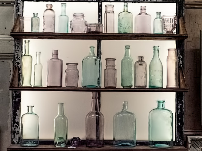 Colored bottles_Cathy Robbins_26.6_26.6.
