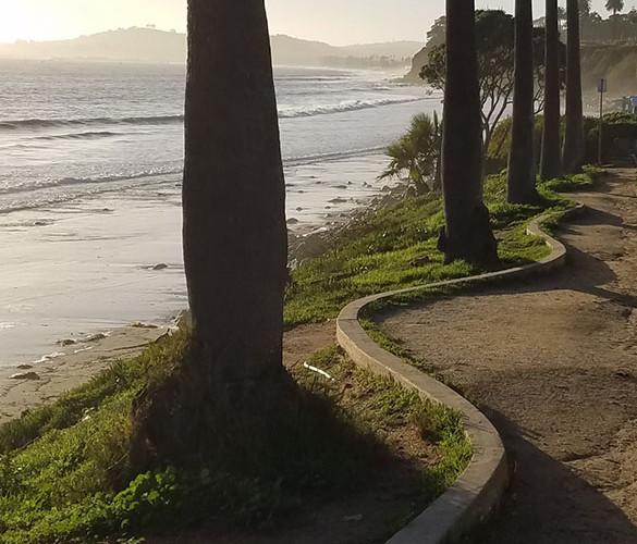 Walking a Straight Line near the Beach_J