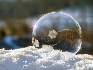 Topsy Turvy Round House in a Frozen Bubb