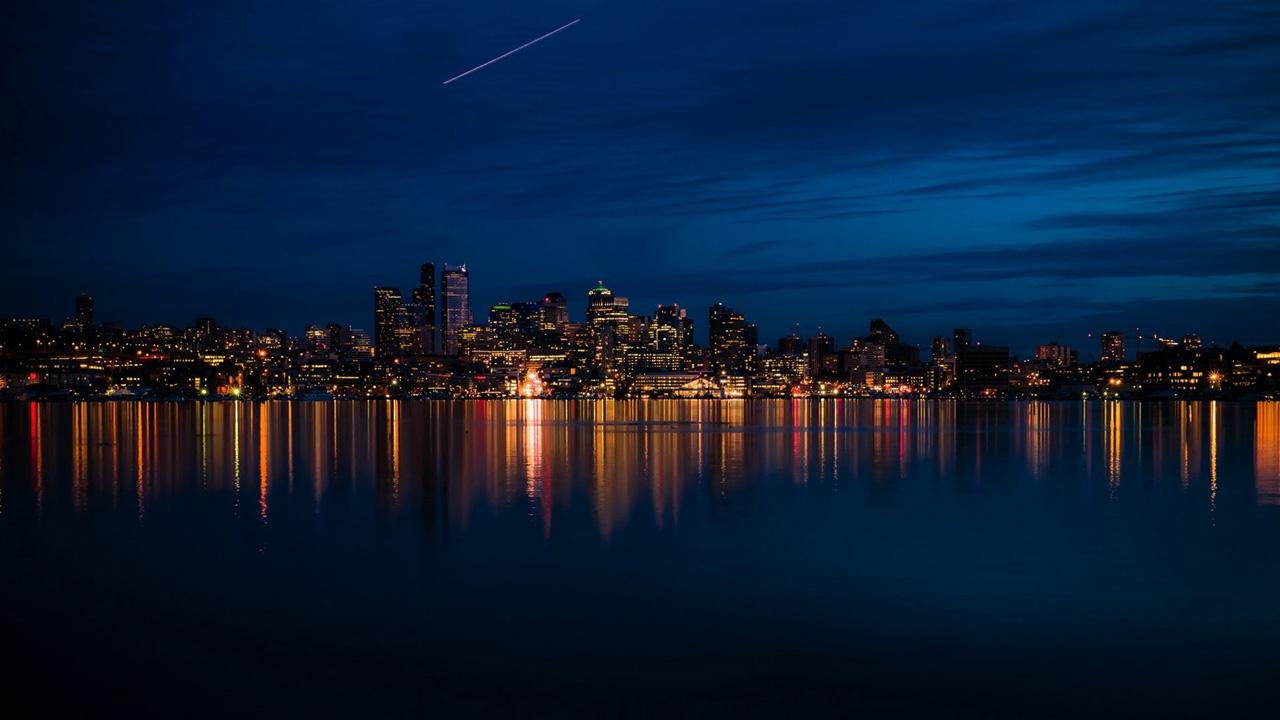 Night City Lights Wallpapers 1280x720