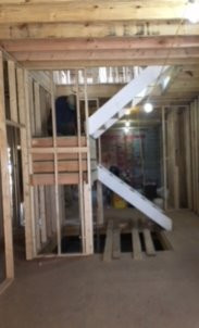 Framing the stairs!