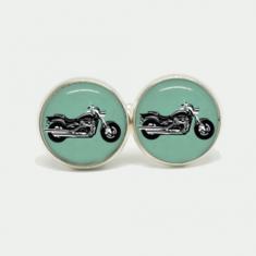 Motorbike cufflink