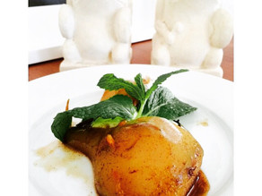 Poached Pears in Orange & Cider