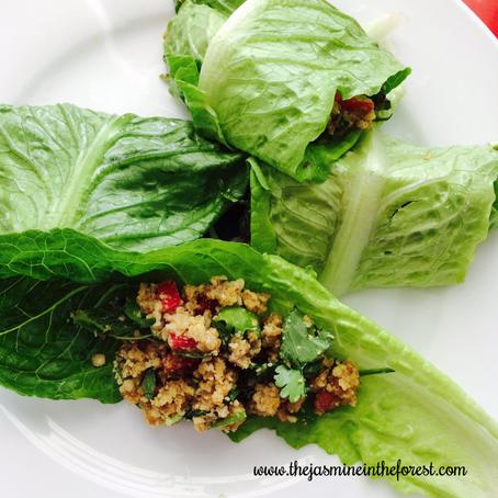Walnut Lettuce Leaf Cups