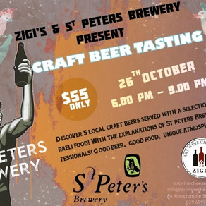 Zigis Craft Beer Tasting