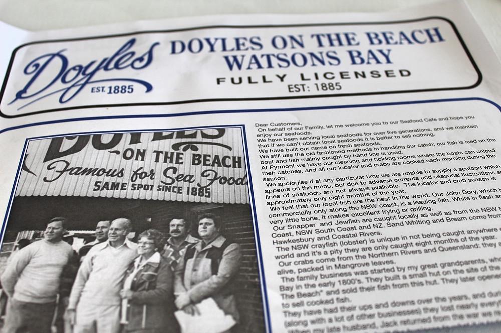 Doyles on the Beach Watson Bay