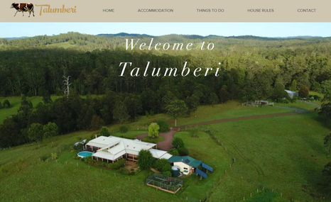 talumberi Website for farm stay accommodation.