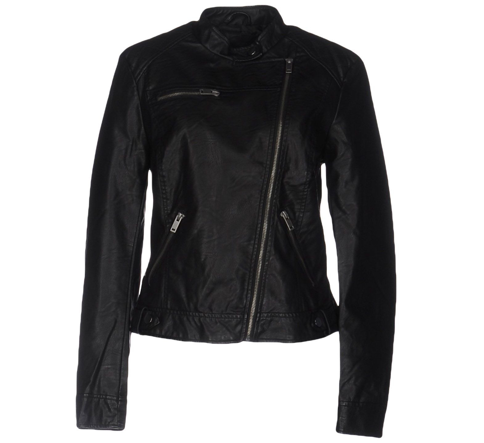 Top it off with a black biker jacket; this one by Vero Moda (non leather) USD 65.00