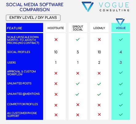 Vogue Consulting SM Software Comparison.