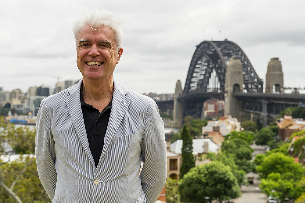 Talking Heads' David Byrne in Sydney today for Here Lies Love announcement.jpg