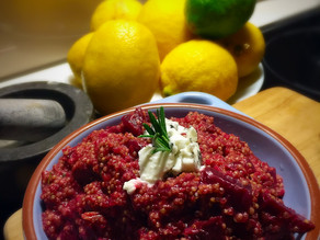 Quinoa Risotto with Beetroot & Goats Cheese