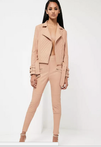 Nude leather pants
