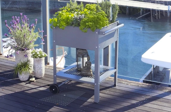 planter trolleys for small gardens