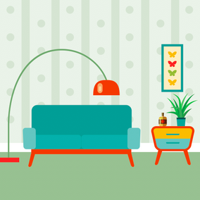 How To Create A Retro Looking Living Room