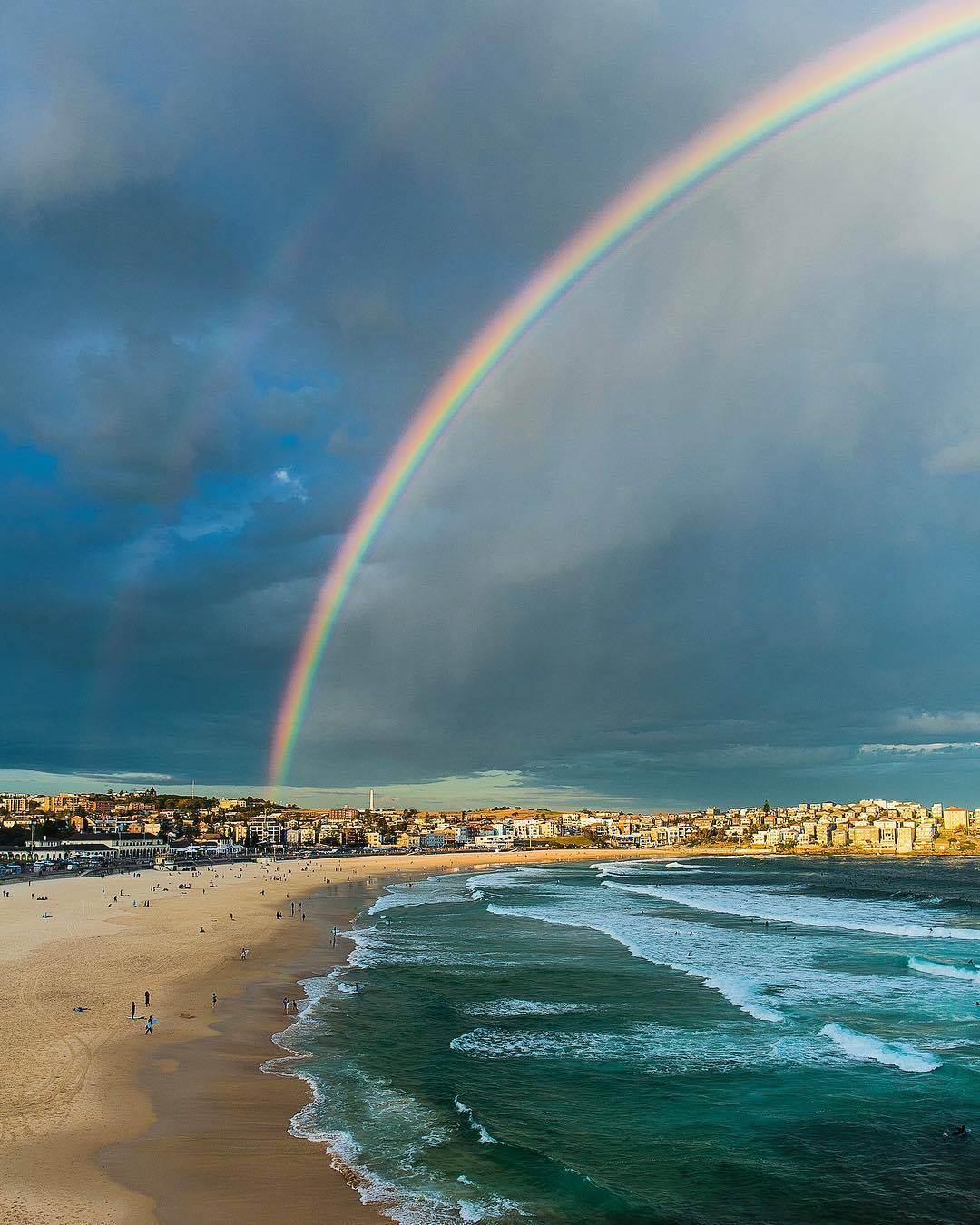 I was on my way to capture the sunset when I saw this stunning rainbow draped perfectly over Bondi Beach. Hastily made my way to the Bondi Icebergs to get the shot, and made it with just two minutes to spare!  Shot on: Canon EOS 5D Mark III and Canon EF 24mm f/1.4 L USM II lens