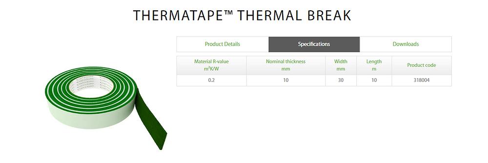 Thermatape Thermal Breakd