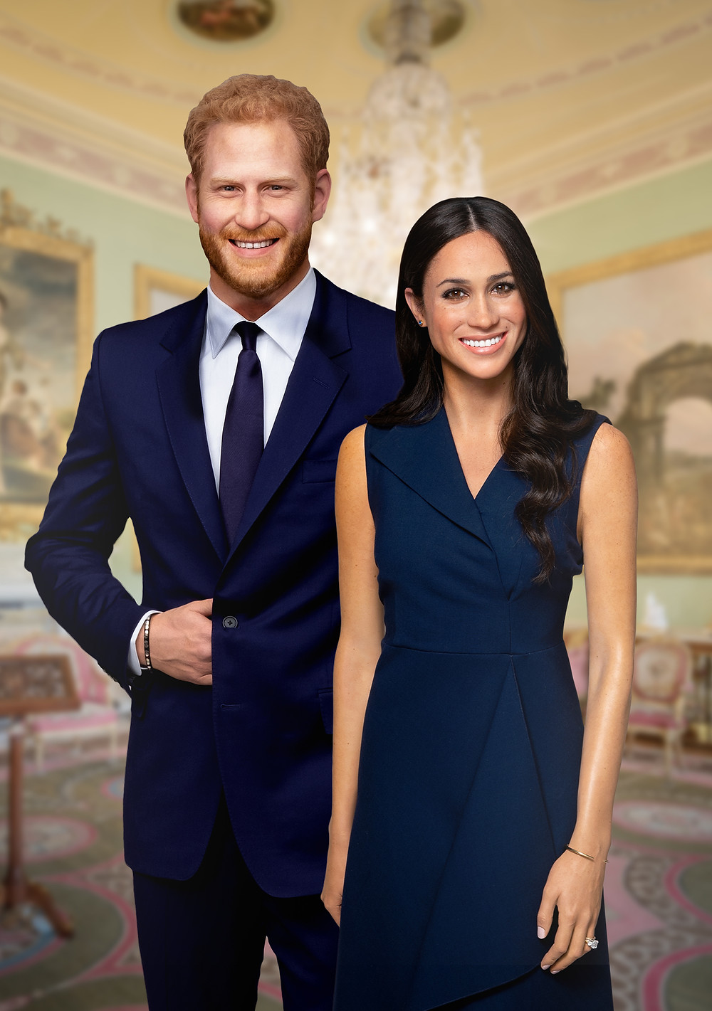 Prince Harry and Meghan Markle's brand new wax figures – designed specifically for Madame Tussauds Sydney
