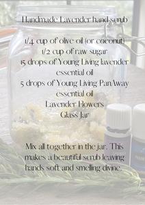 handmade lavender scrub