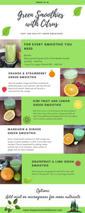 Green Smoothies with Citrus