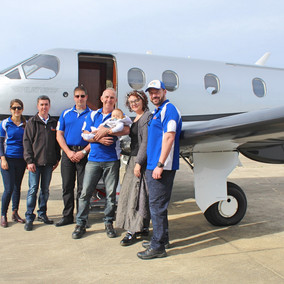 Wings4kidz Transporting Baby Charlie Home to Ballina After Neurosurgery