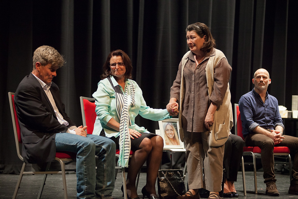 Mark Lee, Merran Doyle, Jo-Anne Cahill and Glenn Hazeldine in A CONVERSATION -61