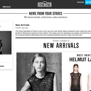 New fashion website District 8
