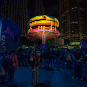Vivid will light up the MLC Centre with the Urban Tree 2.0 installation