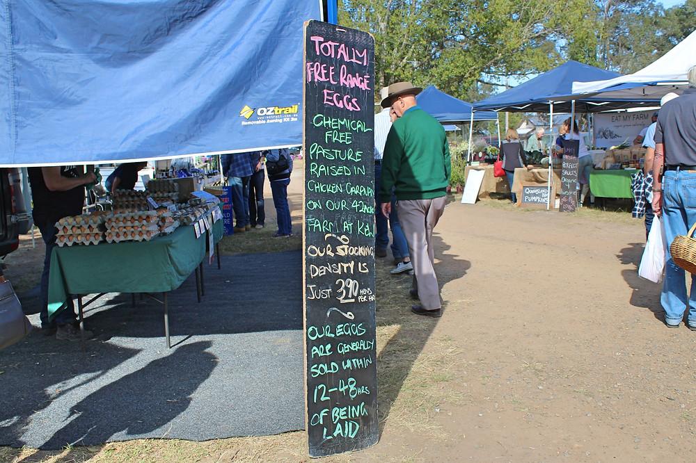 fresh eggs farmers market nsw