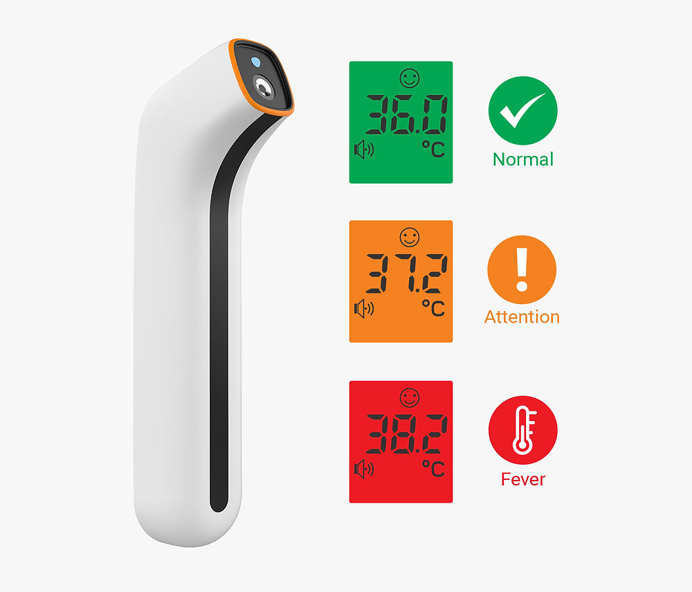 slimline 'pocket-sized' infrared thermometer