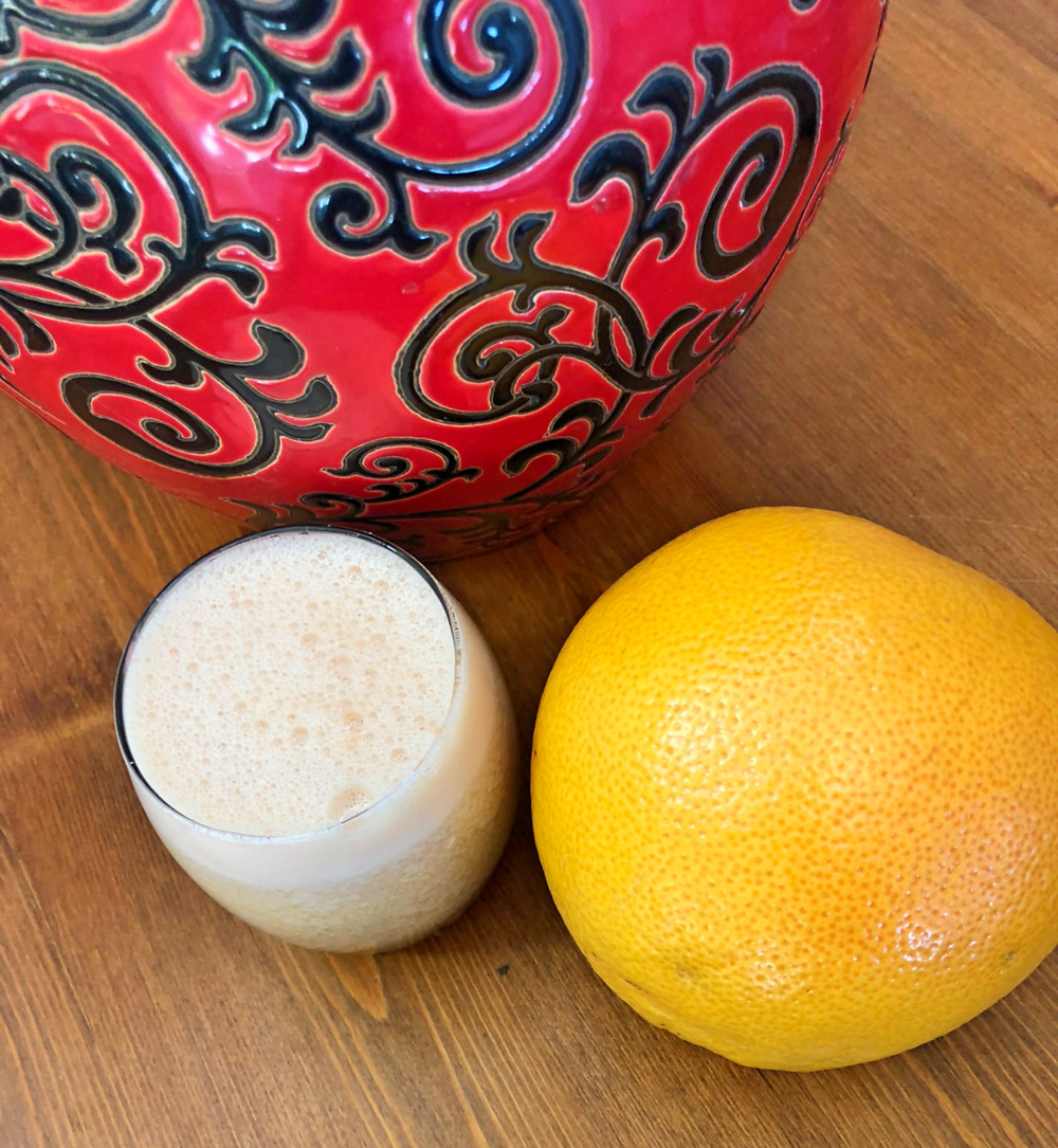 Grapefruit and coconut water smoothie