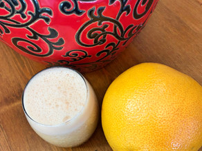 Coconut Water and Grapefruit Smoothie with Hint of Mint