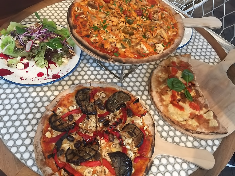 Pizza and fresh garden salad