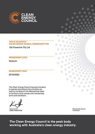 Network Member Certificate 100 Powerlink