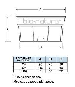 tanques plasticos, bebederos, bio-natura