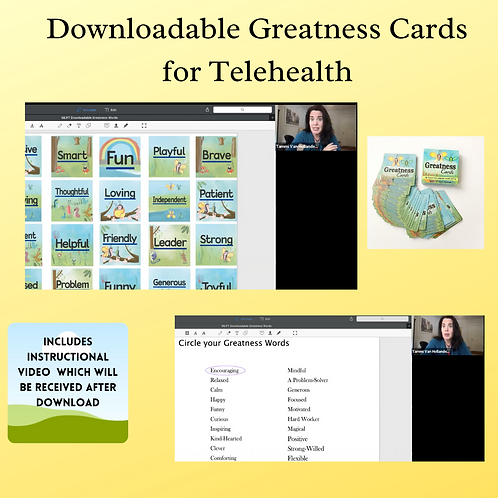 Downloadable Greatness Cards for Telehealth