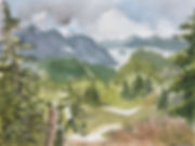 Raven's Roost Ridge view Watercolor by K