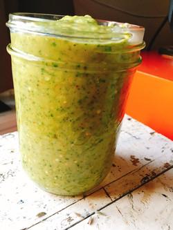 avocado + tomatillo dippy sauce