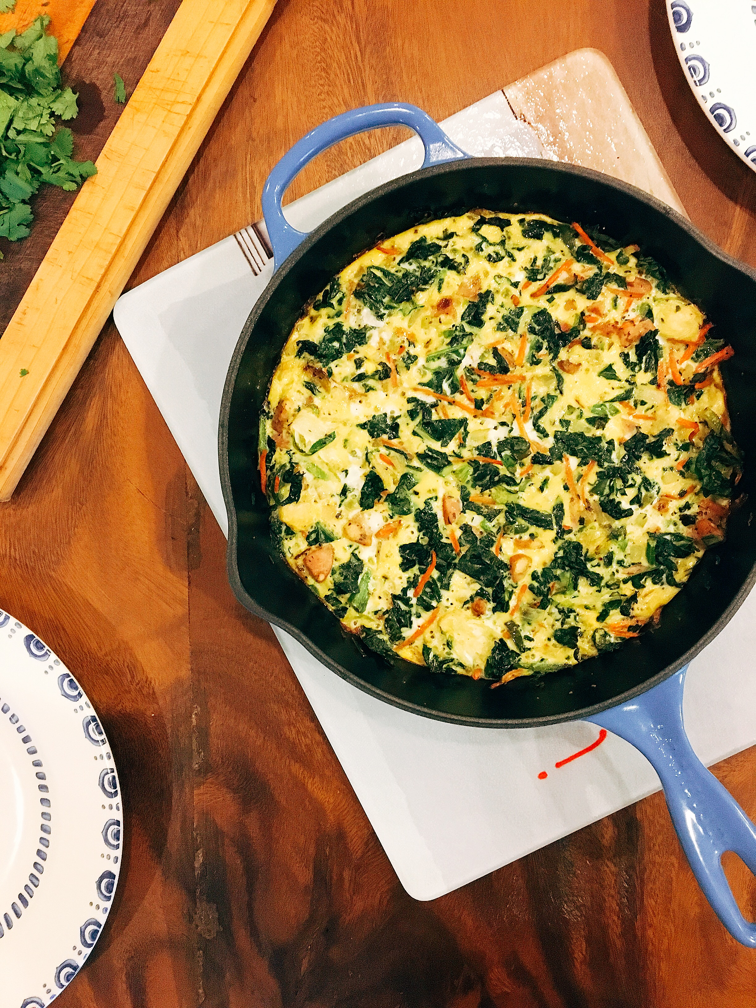 frittata with all the things