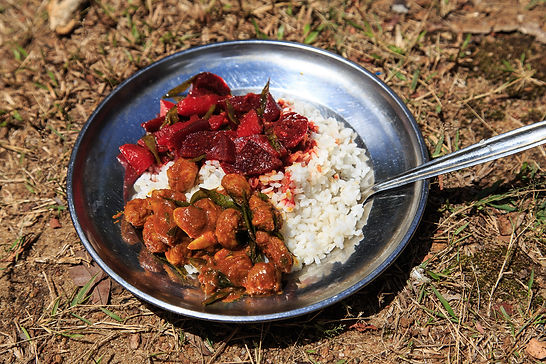 Sri Lankan curry made on open fire