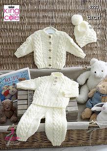 king-cole-aran-knitting-pattern-baby-sweater-jacke-trousers-hat-5222.jpg