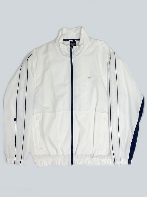 Nike Vintage White Embroidered Spellout Windbreaker