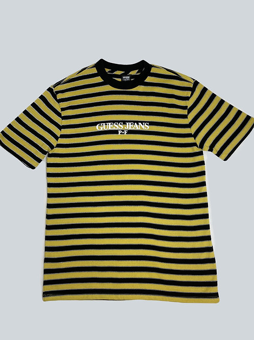 Guess x Places + Faces Yellow/Black Striped Tee
