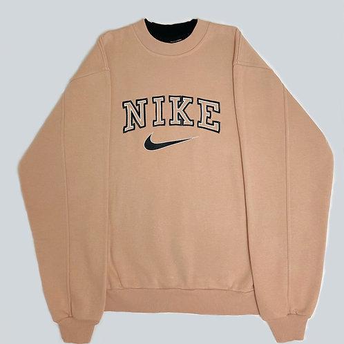 Nike Vintage 90's Light Peach Spellout  Sweatshirt