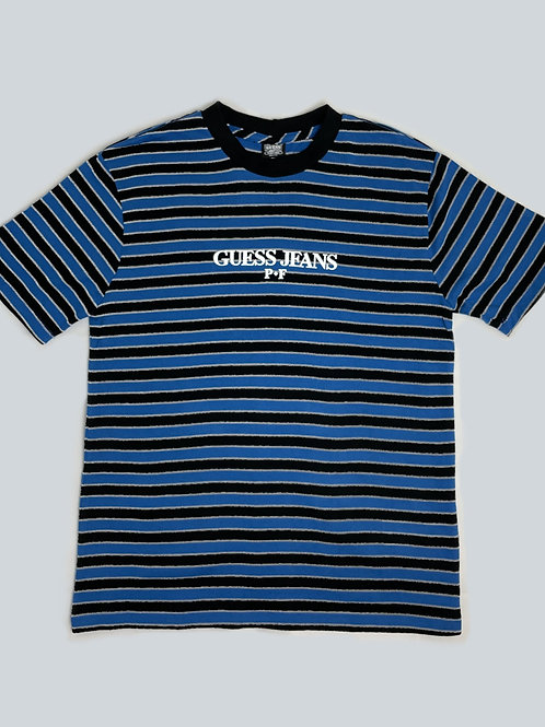 Guess x Places + Faces  Blue/Black Striped Tee