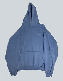 Champion Vintage Baby Blue logo Hoodie