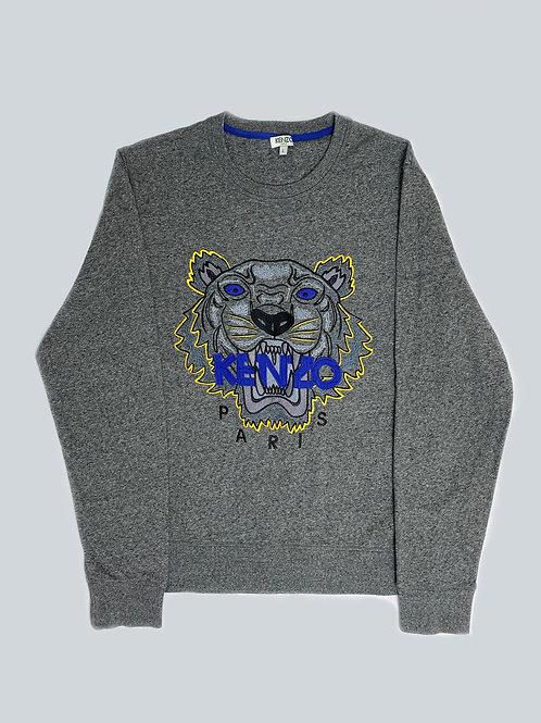 Kenzo Grey Embroidered Tiger Sweatshirt